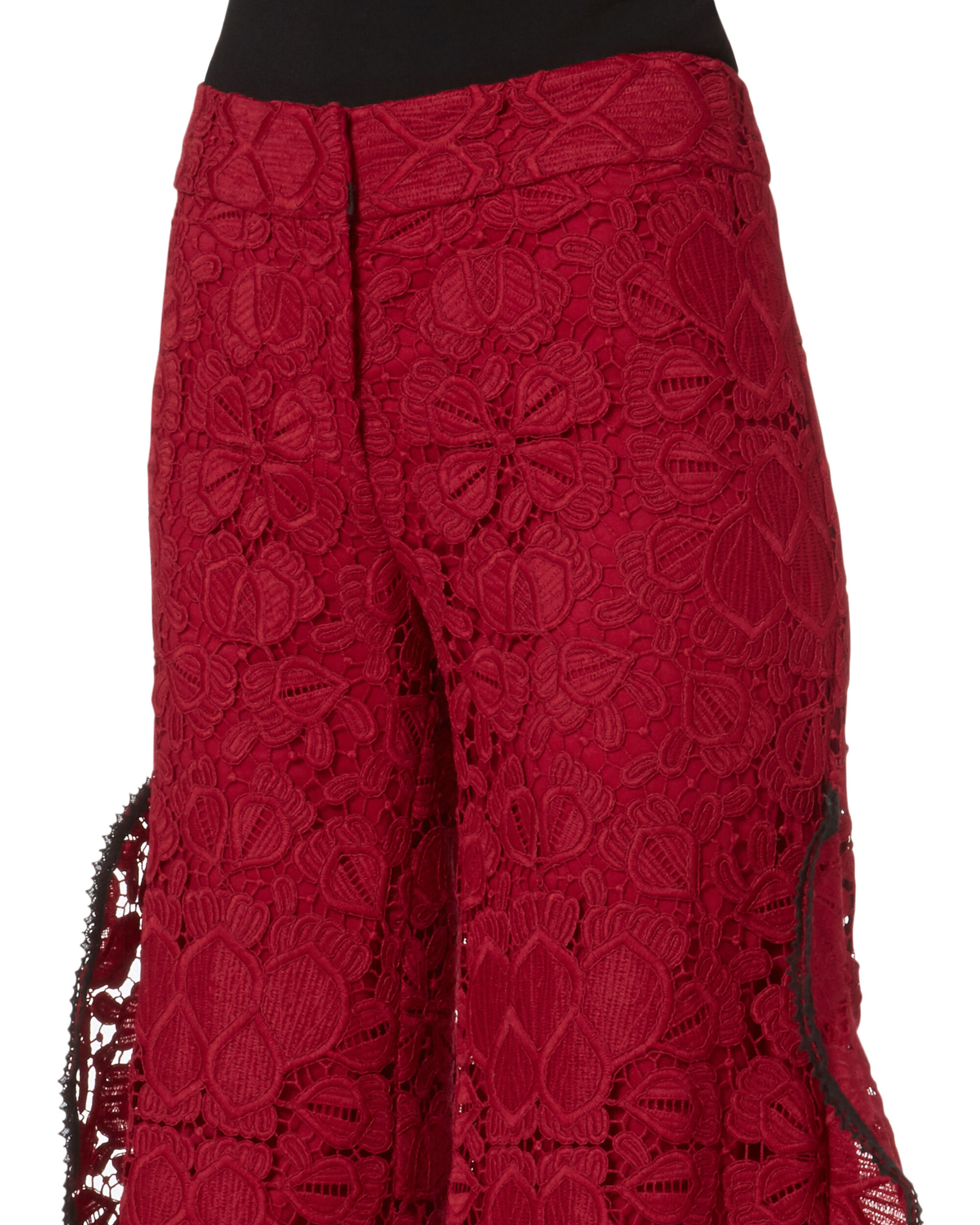 Brice Lace Wide Leg Pants, RED-DRK, hi-res