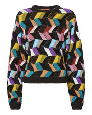 Dolman Sleeve Jacquard Sweater, MULTI, hi-res