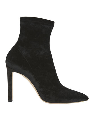 Louella Sock Booties, BLACK, hi-res