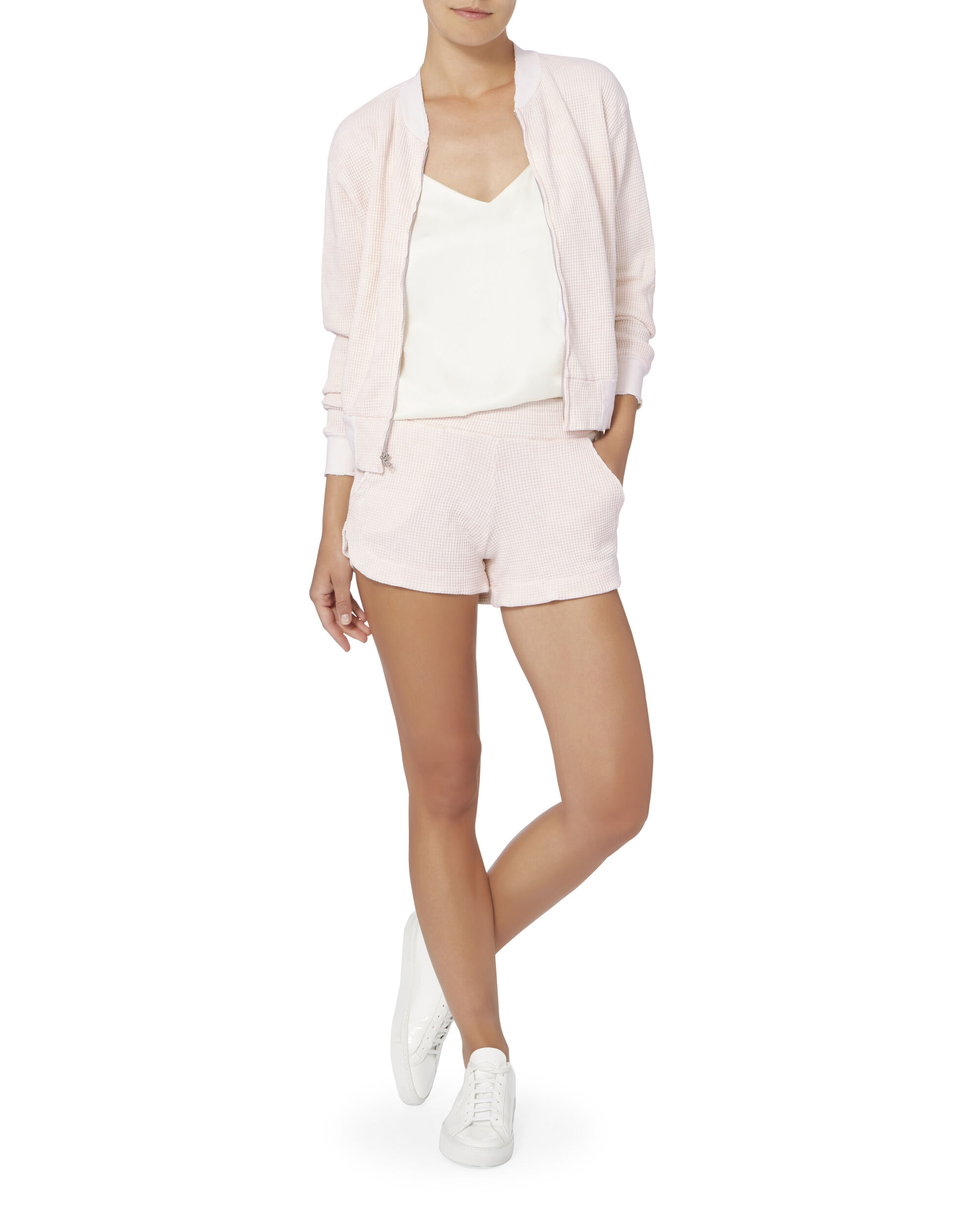 Thermal Zip Bomber Jacket, NUDE, hi-res