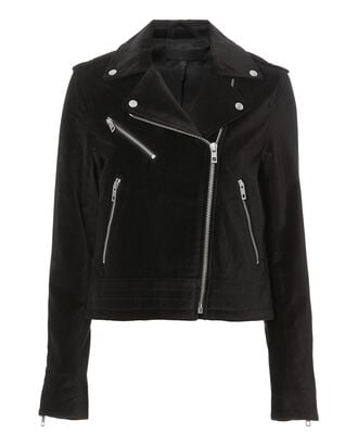 Mercer Velvet Moto Jacket, BLACK, hi-res