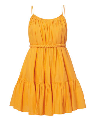 Nala Yellow Mini Dress, YELLOW, hi-res