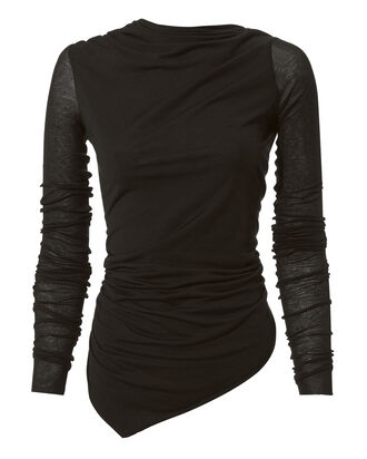 Asymmetric Open Back Top, BLACK, hi-res