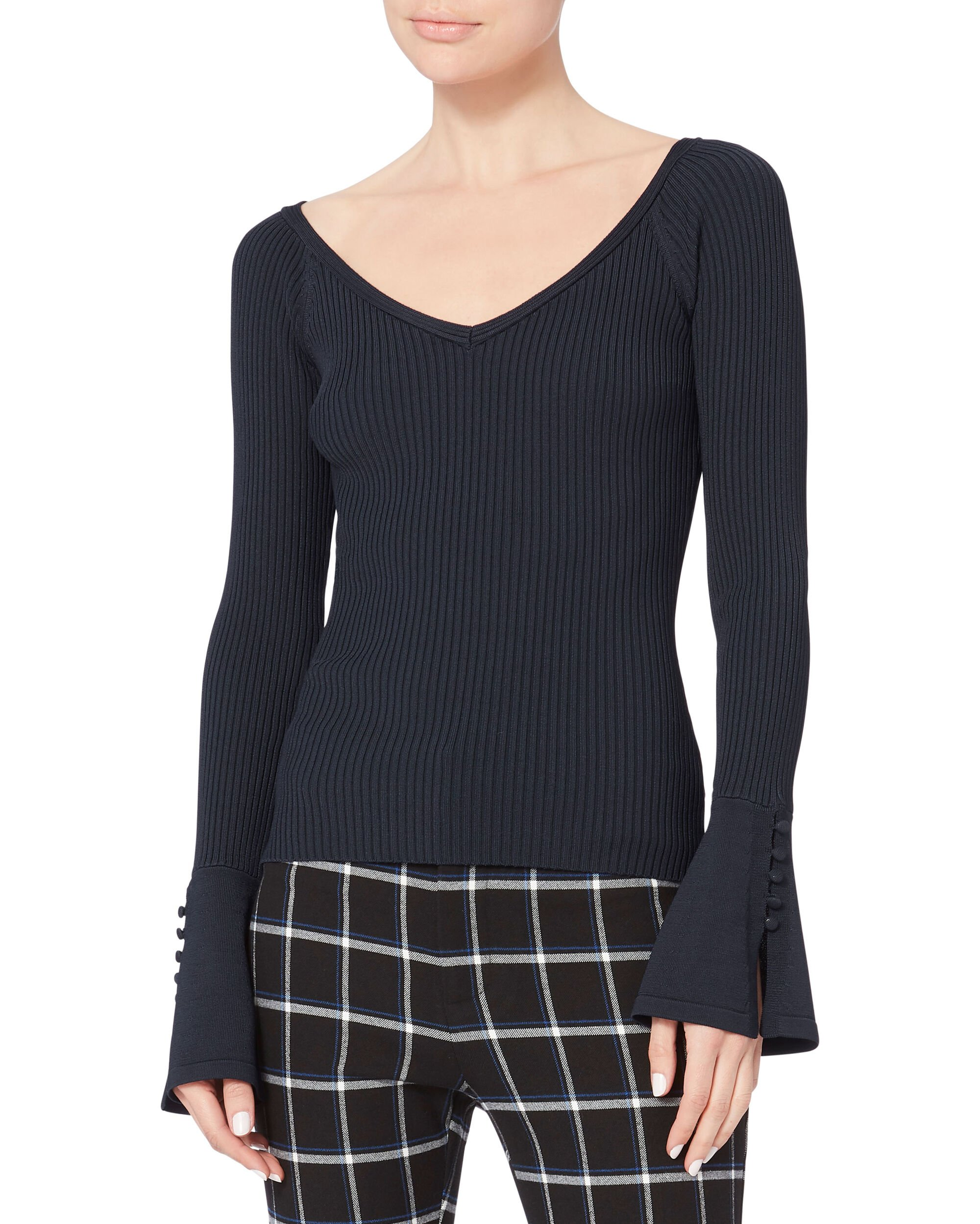 Penny Knit Sweater, NAVY, hi-res