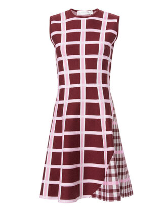 Intarsia Wide Stripe Kick Dress, MULTI, hi-res