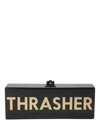 "Flavia ""Thrasher"" Clutch, BLACK, hi-res"