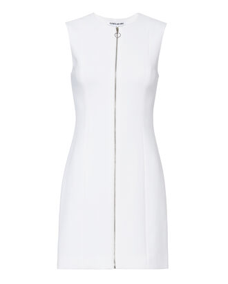 Susannah Zip Up Dress, WHITE, hi-res