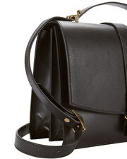 Agnes Satchel Black Crossbody, BLACK, hi-res
