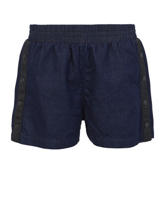 Side Snap Shorts, DENIM-DRK, hi-res