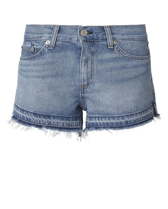 Undone Hem Cutoff Shorts, DENIM, hi-res