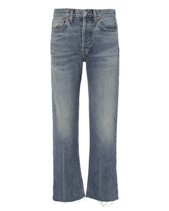 High-Rise Stove Pipe Jeans, DENIM, hi-res