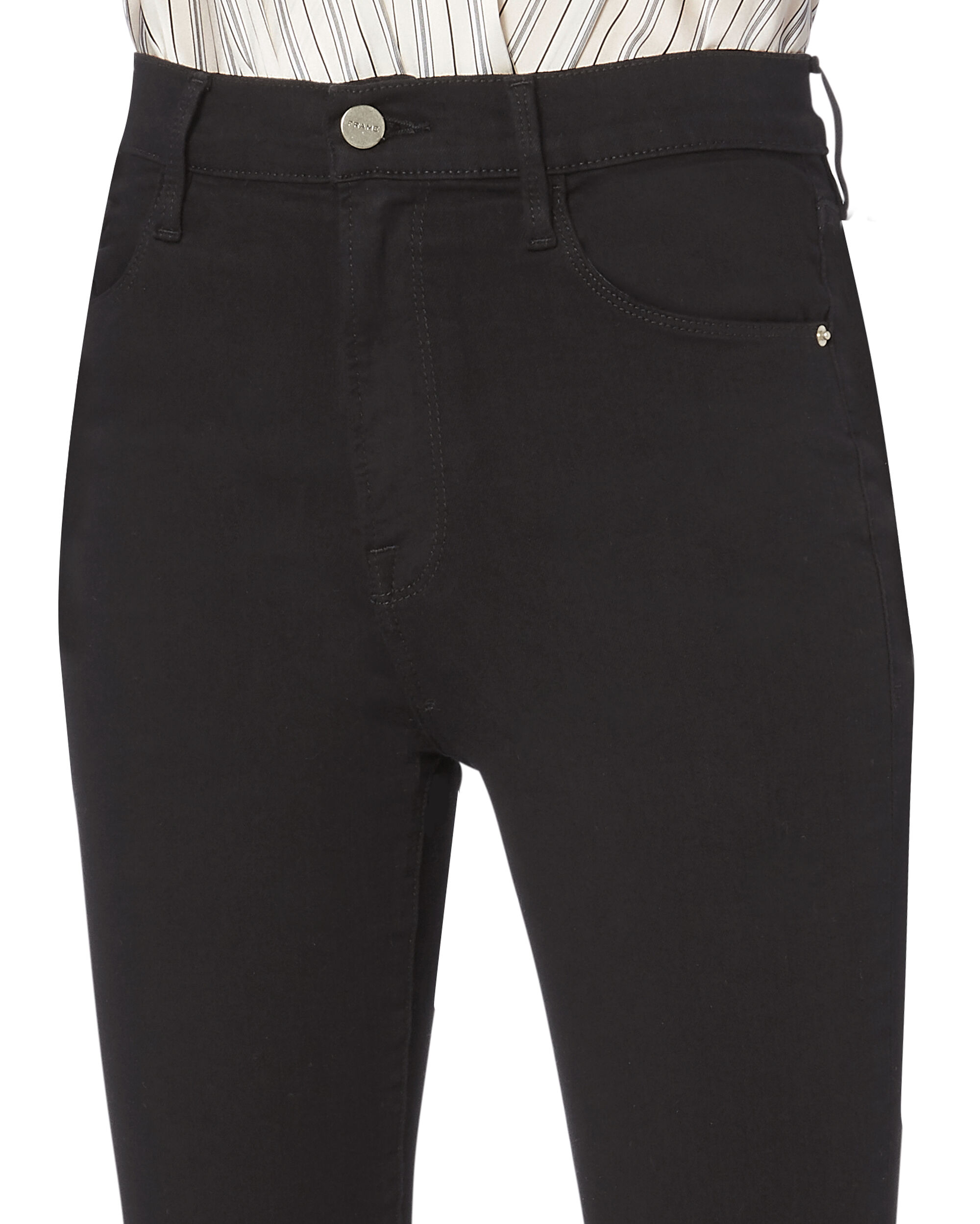 Ali High-Rise Black Cigarette Pants, BLACK, hi-res