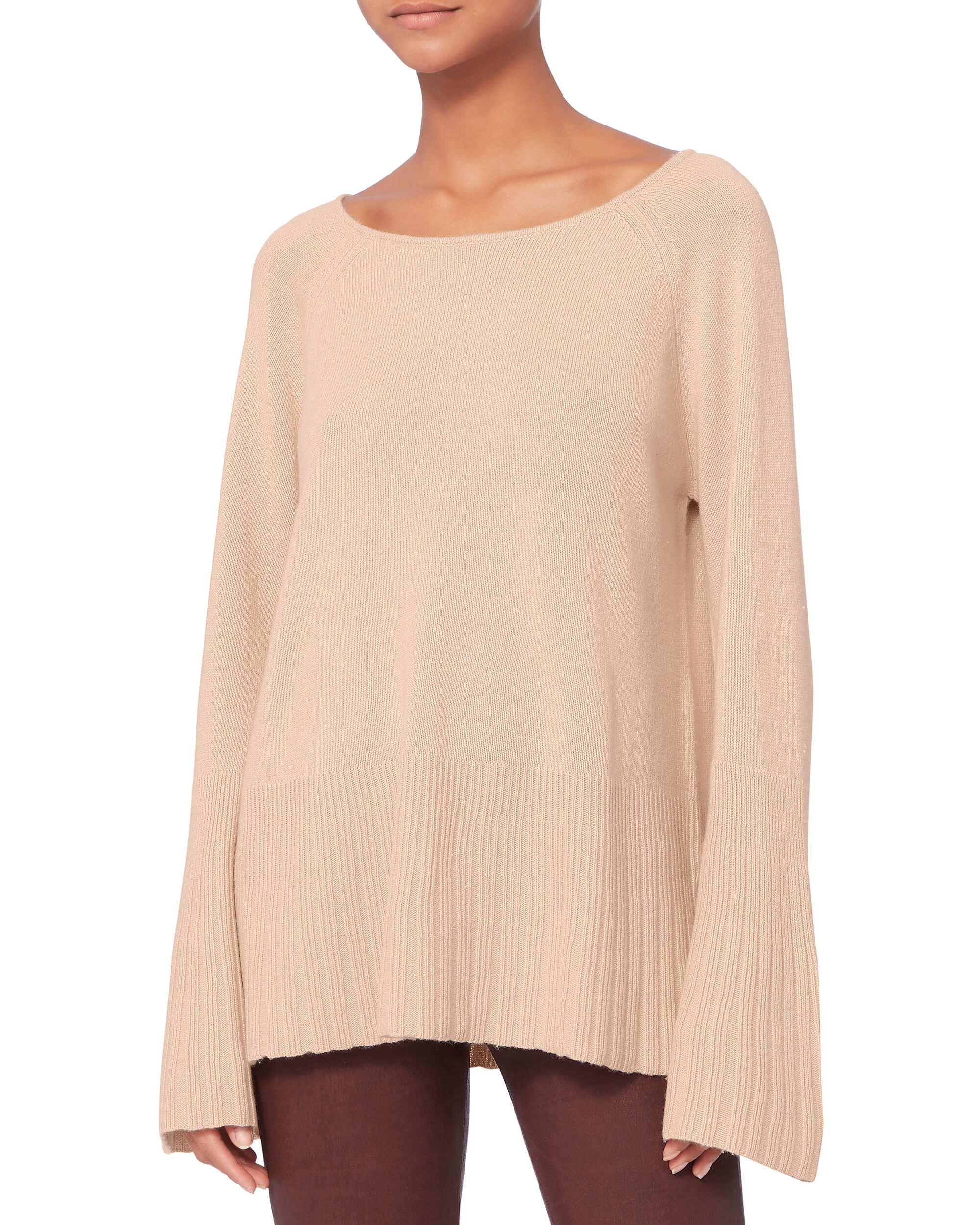 Clarette Bell Sleeve Sweater, NUDE, hi-res