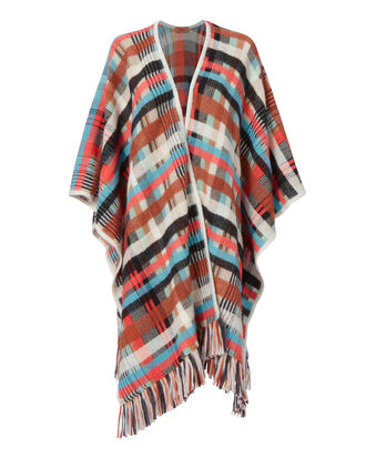 Basketweave Multi Poncho, MULTI-LT, hi-res