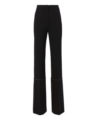 Racing Stripe Wide Leg Pants, BLACK, hi-res