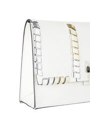 Lunch Bag Small Clutch, WHITE, hi-res