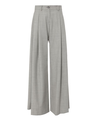 Inex Wide Leg Trousers, GREY, hi-res