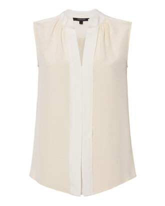 Core Kara Sleeveless Blouse, WHITE, hi-res