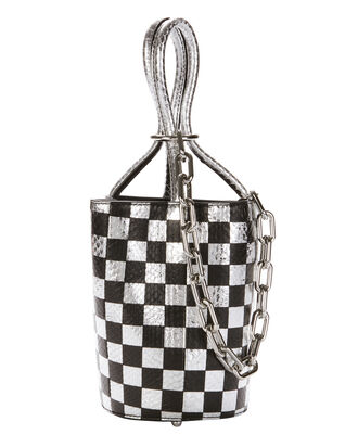 Roxy Checkerboard Elaphe Mini Bucket Bag, PRINT, hi-res
