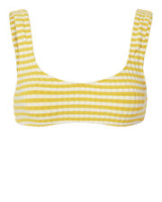 Elle Yellow-Striped Bikini Top, PATTERN, hi-res