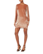 Velvet Mini Dress, BLUSH, hi-res
