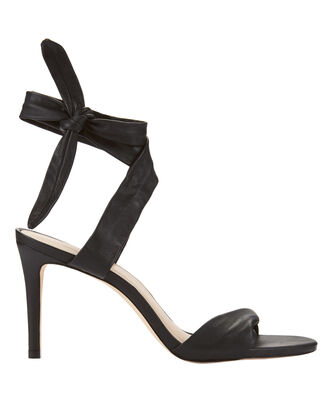 Ankle Tie Sandals, BLACK, hi-res