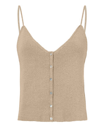 Felicity Button Front Tan Tank, BLUSH, hi-res