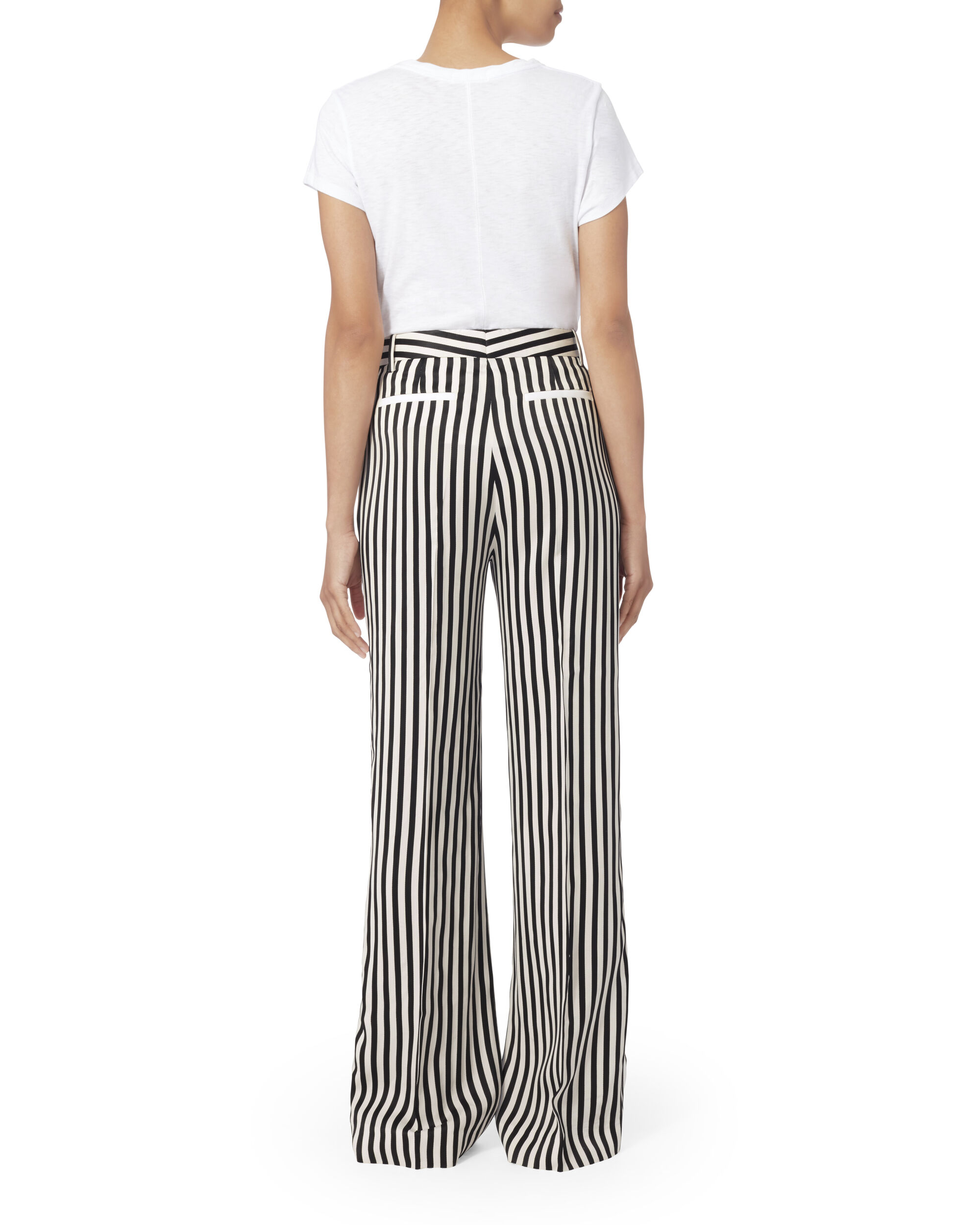 Relaxed Tuxedo Pants, BLK/WHT, hi-res