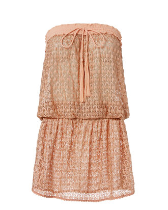 Adeline Strapless Coverup Dress, BLUSH/NUDE, hi-res