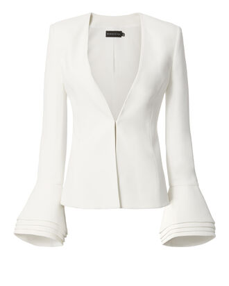 Layered Cuff Jacket, WHITE, hi-res