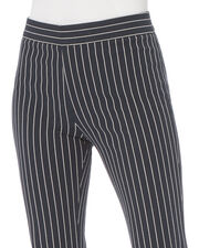 Wide Leg Pinstripe Pants, NAVY, hi-res