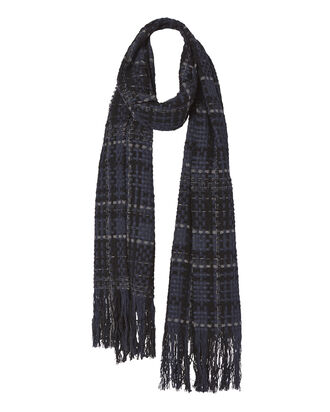 Linton Tweed Scarf, BLUE, hi-res