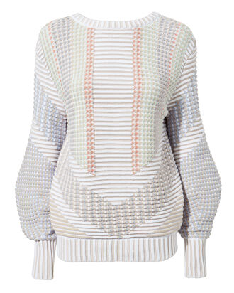 Reversible Sweater, WHITE, hi-res