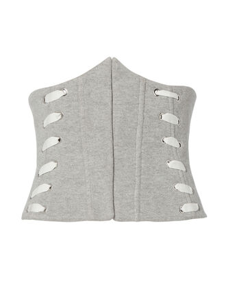 Whipstitch Corset, GREY, hi-res