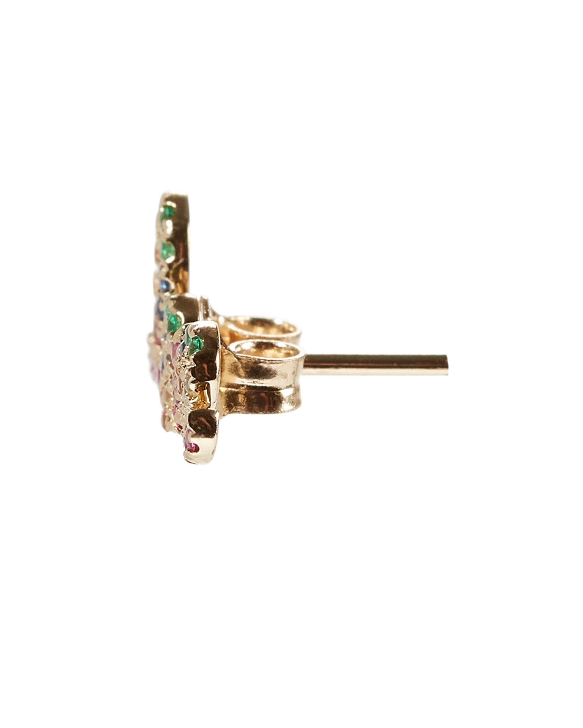 Love Pavé Rainbow Stud, GOLD, hi-res