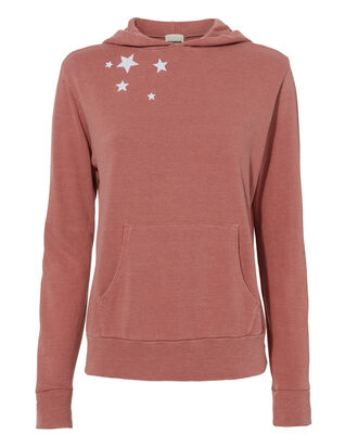 Star-Embroidered Hoodie, PINK, hi-res