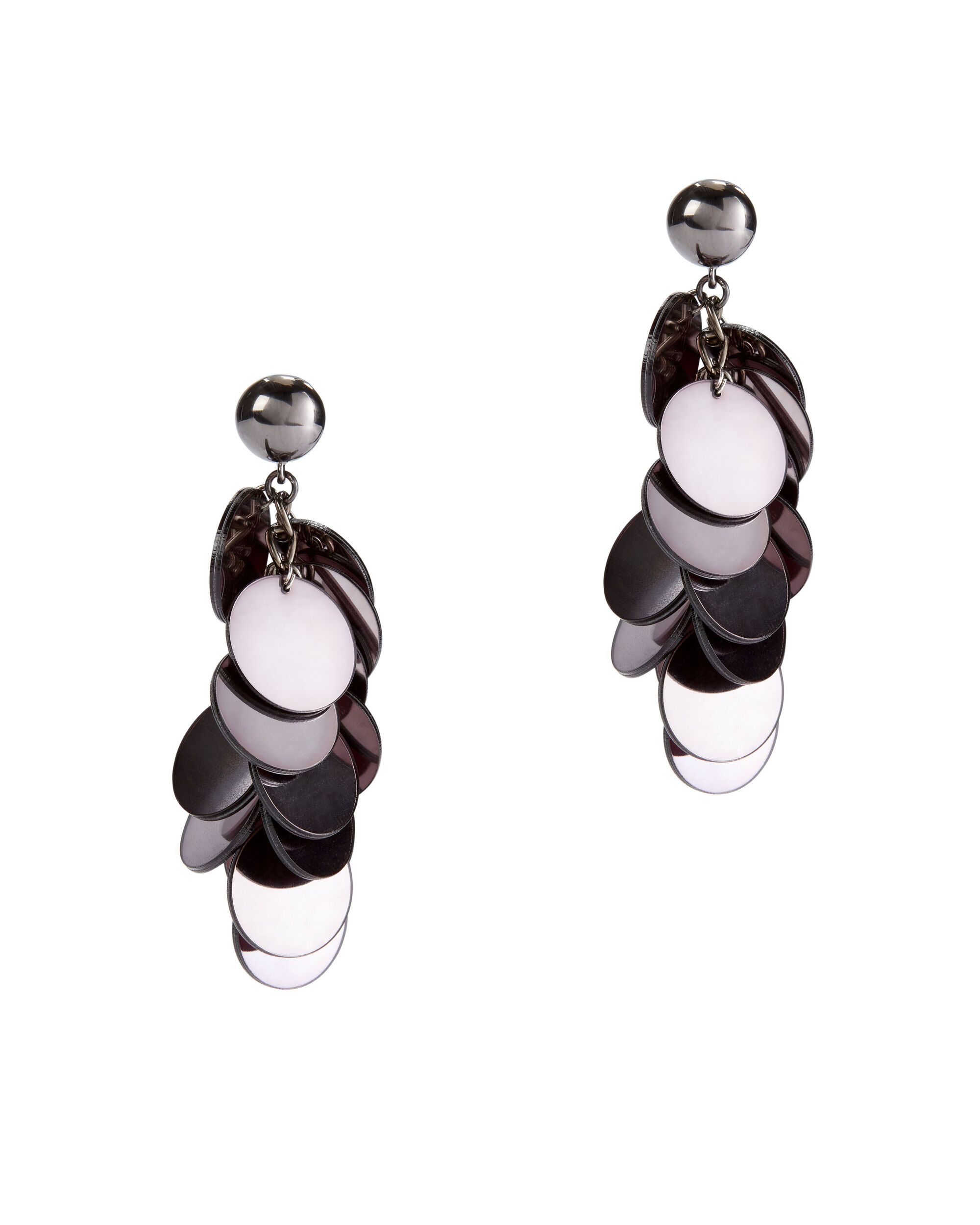 Plexi Cascade Earrings, GUNMETAL, hi-res