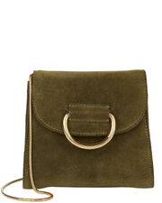 Tiny D Box Shoulder Bag, GREEN, hi-res