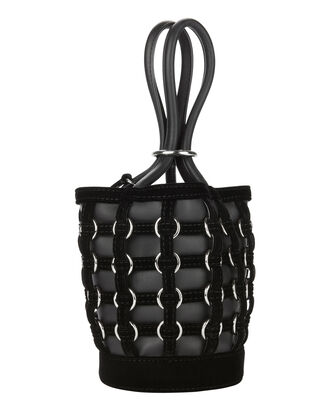 Mini Roxy Ring Cage Bucket Bag, BLACK, hi-res