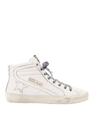 White Slide Sneakers, WHITE, hi-res