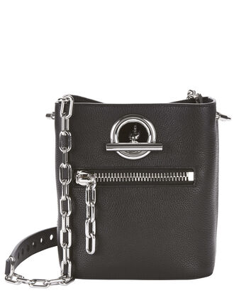 Riot Shoulder Chain Bucket Bag, BLACK, hi-res