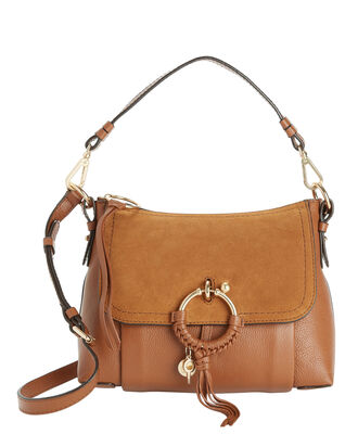 Joan Suede Medium Shoulder Bag, BROWN, hi-res