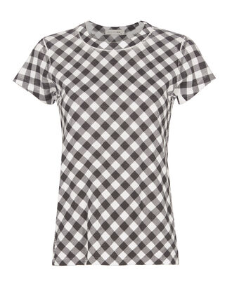 Gingham Print Slim Fit Tee, PATTERN, hi-res
