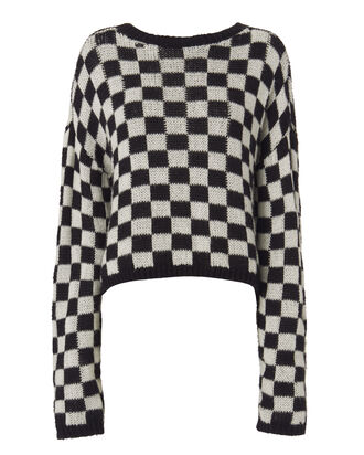 Remington Checkerboard Sweater, PATTERN, hi-res