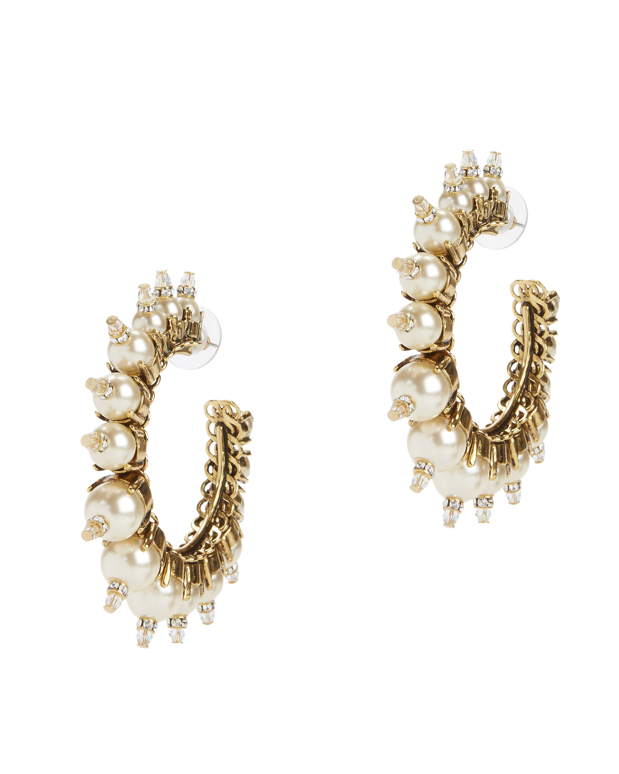 My One And Only Pearl Hoop Earrings, IVORY, hi-res