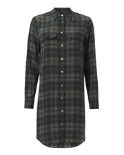 Signature Slim Plaid Dress, PATTERN, hi-res