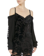 Removable Sleeve Cami Dress, BLACK, hi-res