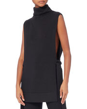 Tabard Side Tie Knit Top, NAVY, hi-res