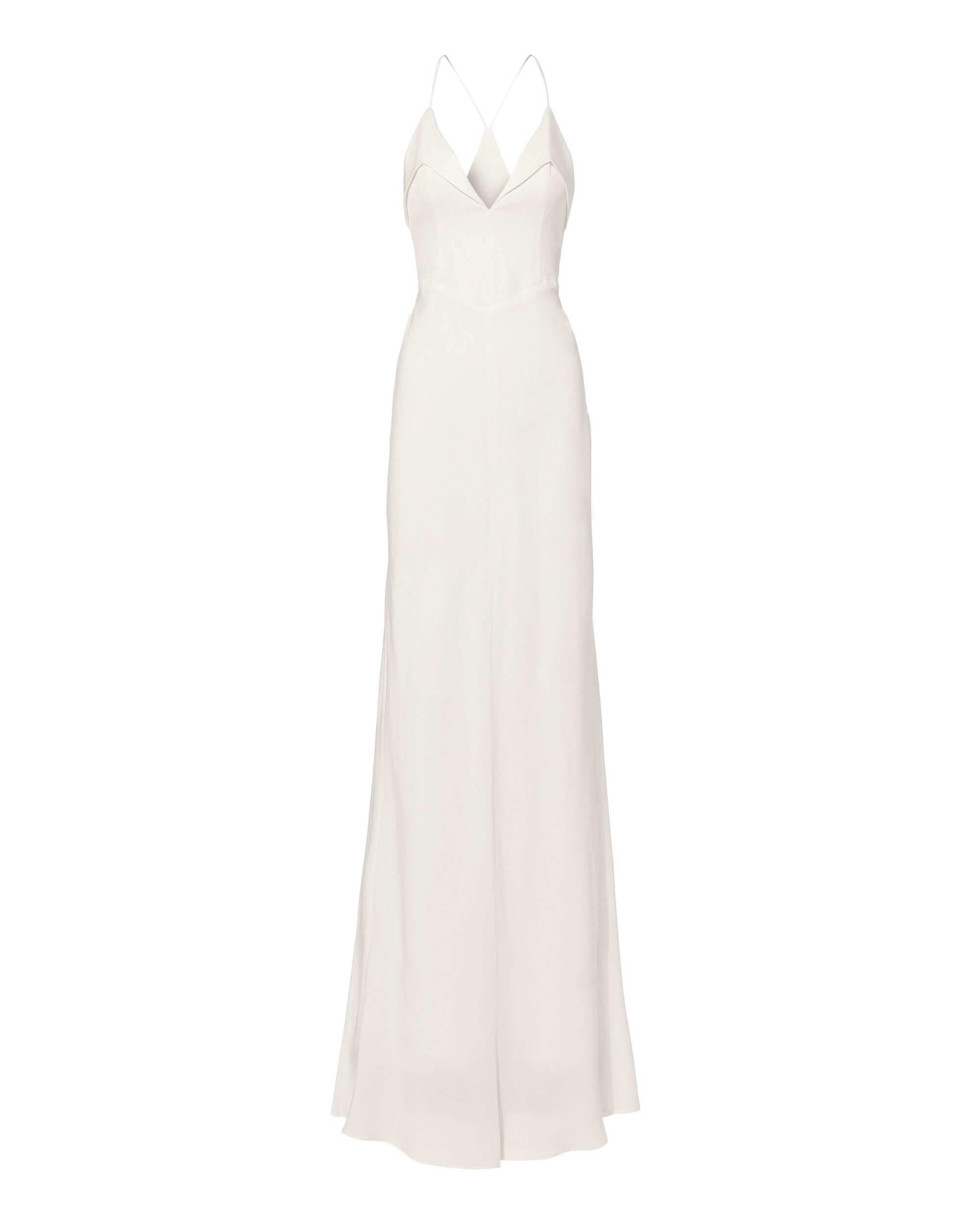 Punta Strappy Gown, WHITE, hi-res