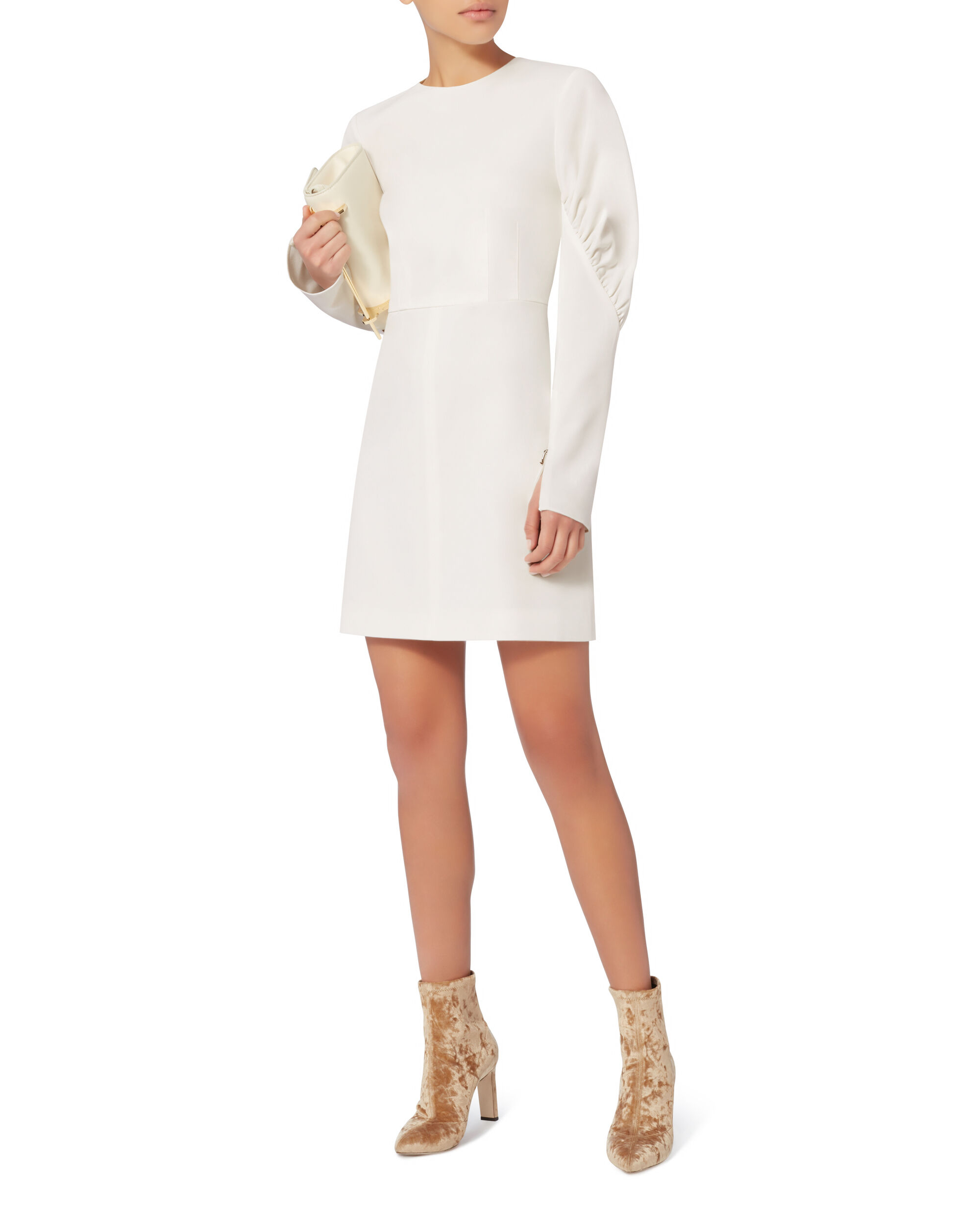 Florence Mini Dress, IVORY, hi-res